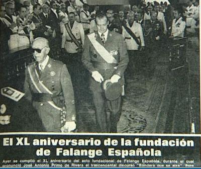 Falangistas y Franquismo. Miguel Argaya